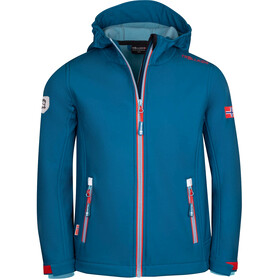 TROLLKIDS Trollfjord Jacket Kids petrol/dolphin blue/spicy red